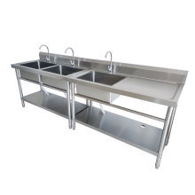 Kitchen Project Commercial Stainless Steel Sink Table