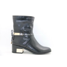 16fw European Trendy Low Metal Heel Women Boots