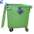 Industrial Plastic Outdoor Garbage Bin with rubber wheels