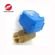 Válvula de bola eléctrica bidireccional de 9-24v dn25 dn32 CWX-25s con el actuador del motor para el agua enfriada