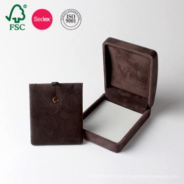 Heißes Verkaufs-kundenspezifisches Pappgeschenk-Papier beflockte Schmuckkästchen