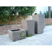 Vase -(14) home & garden furniture wicker/ PE rattan garden flower pot price