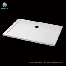 Receveur de douche rectangle imperméable économique en acrylique