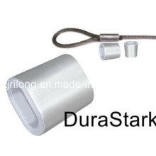 Manga de aluminio oval de la cuerda de alambre de acero / las cápsulas (DR-Z0106)