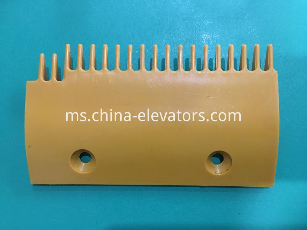Yellow Left Plastic Comb for Sigma Escalators