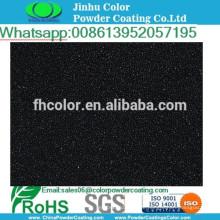 Elektrostatisches Spray Polyester metallic schwarz Pulverbeschichtung Farbe