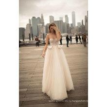 Без Бретелек Вечернее Платье Свадебное Платье Для Новобрачных