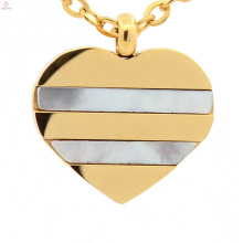 Latest good quality gold silver heart jewelry charms pendant for women