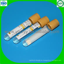 Tubo de ensayo de sangre de gel y de coagulación