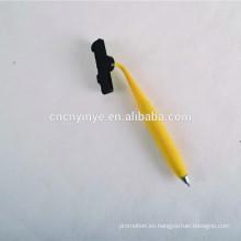 2015 suave pvc plástico metal bolígrafo
