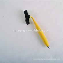 2015 soft pvc plastic metal ballpoint pen