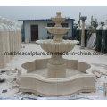 Fonte de água bege da escultura da pedra (SY-F002)