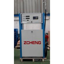 Zcheng gasolinera dispensador de combustible Win Series Single boquilla con tubería de alta