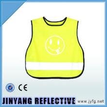 chaleco reflectante de seguridad de tráfico de alta visibilidad de niño
