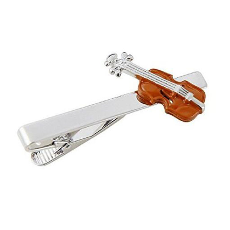 Brown Violin Tie Bar