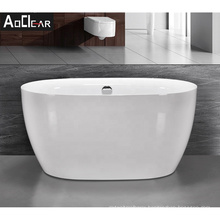 Aokeliya 1200mm small and mini oval stand alone freestanding bath tubs