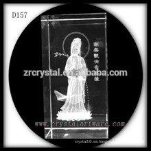 Buda de cristal 3D láser grabado cristal