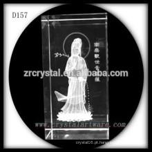 Cristal de gravura do Laser 3D de Crystal Buddha