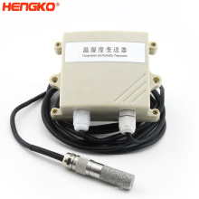Sintered stainless steel probe filter housing temperature sensor for compressed air systems in maritime