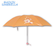 Gracias Regalos de boda para invitados Shinning Pearl acabado tela plegable multi color paraguas mini viajar al por mayor Umbarella