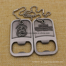 High Quanlity Zink Alloy Flasche Opener Hund Tags mit Kette