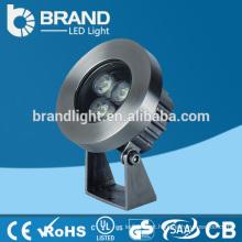IP68 Alta qualidade 3 * 3W RGB 3 em 1 9W DMX512 Luz da piscina do diodo emissor de luz, CE RoHS