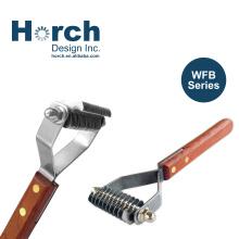 Fantastic Undercoat Rake Brush with Wooden Handle DeShedding Tool