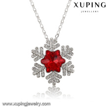 43219 Fashion Charm Leaf Crystals From Swarovski Jewelry Pendant Necklace