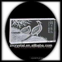 K9 Handmade Crystal Intaglio com Animal