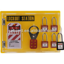 CE certification 4*safety padlock+2*6 hole hasp lock+25 lockout tags lockout station
