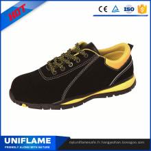 Chaussures de sécurité en cuir suédé de marque légère Ufa089