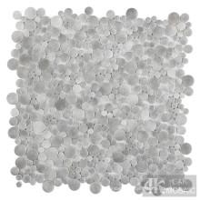 Azulejo de mosaico de vidro para impressão em tecido bolha cinza