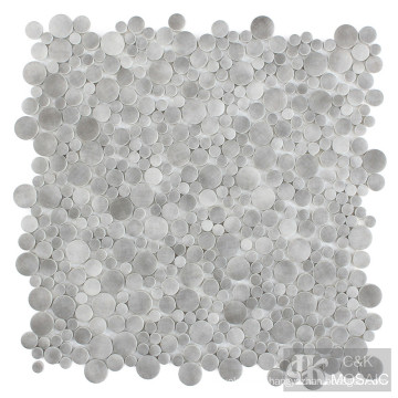 Grey Bubble Fabric Printing Glass Mosaic Tile