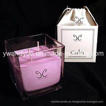 Velas perfumadas del regalo de boda de la soja en caja hermosa