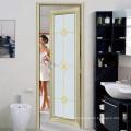 Personnalisation grille design toilettes cadre en aluminium porte en verre dépoli