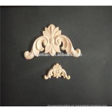 Moldura de madera grabada aplique de madera para muebles apliques de muebles decorativos