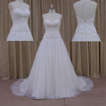 2015 Sexy Lace and Tulle Trumpet Wedding Dress