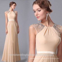 Wholesale Good Quality New Cheap Lace formal Beach Bridesmaid Dress Long with sash LB39