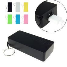 Promoción barata Mini Power Bank portátil 5600mAh con llavero