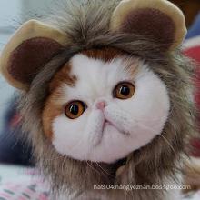 Wholesale Manufacture Funny Lion Mane Wig with Ears Fancy Costume pet supplies dog wig hat cat lion fur headgear