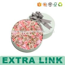 Packaging Paper Custom Printing Round Flower Box