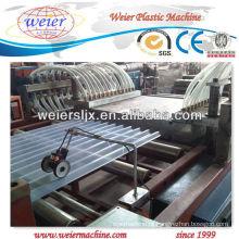 Linha de extrusão de telha de PVC transparente máquina / PVC