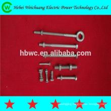 Pole line hardware /galvanized machine bolt / anchor eyebolt / eye bolt forged made in China