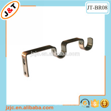 Barra de cortina de metal doble soporte de pared
