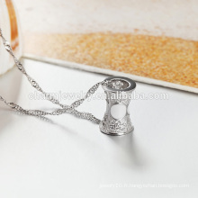 Vente en gros 2016 Fashion Style 925 Silver Necklace Made In China Factory Produit SCR003