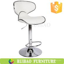 Коммерческая мебель Кожаный барный стул Промышленный / Поворотный промышленный регулируемый табурет