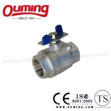 API Stainless Steel Ball Valve with Butterfly Handle