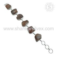 Espléndida pulsera de piedras preciosas de Sunstone 925 Joyería de plata esterlina Joyería hecha a mano de Jaipur