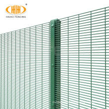cheap price pvc coated 358 clear view fence,no blind spots 358 anti-climbing prison fences