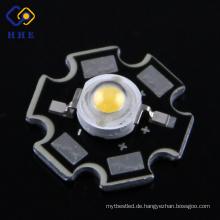 Hochleistungs-1W / 3W LED Bridgelux-Chip-Stern-Art